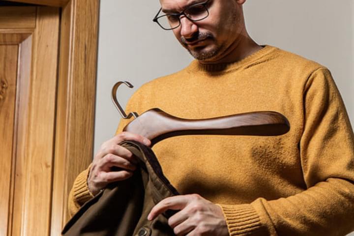 Kleiderbügel können auch schwere Kleidung tragen